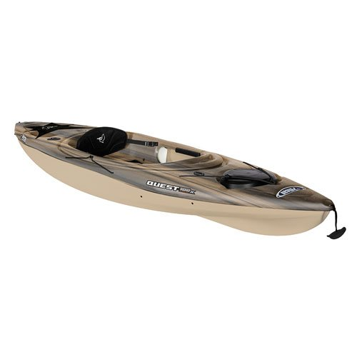 Quest 100x Angler Sit-In Kayak, Black/Tan, swatch