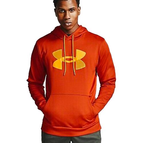 Men's Armour Fleece Big Logo Hoodie, Orange, swatch