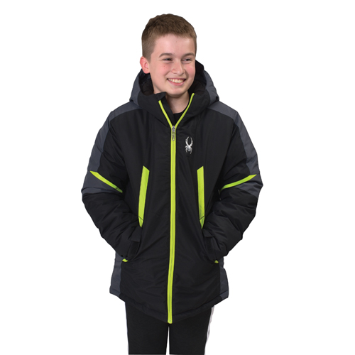 Boys Kyle City/Slope Ski Jacket, Black, swatch