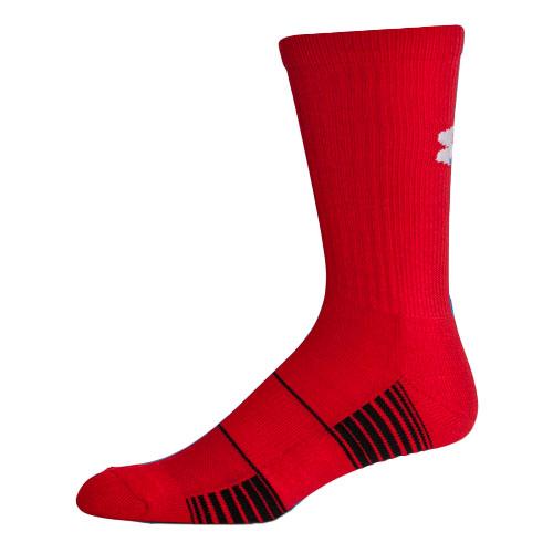 Men's Team Crew Socks, Red, swatch