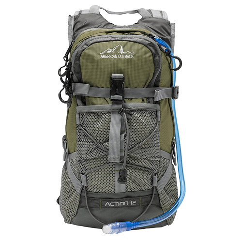 Diamond 2L Hydration Backpack, Green, swatch
