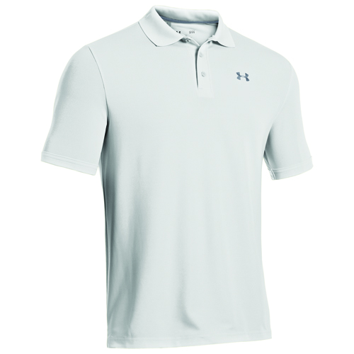 Men's Performance Polo Golf Shirt, White, swatch