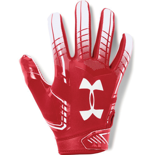Adult F6 Football Glove, Red/White, swatch
