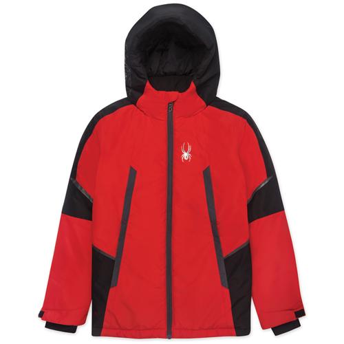 Boys' Kyle City/Slope Ski Jacket, Red, swatch