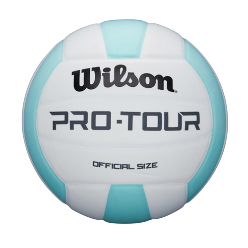 Wilson Pro Tour Indoor Volleyball, Teal/White, swatch