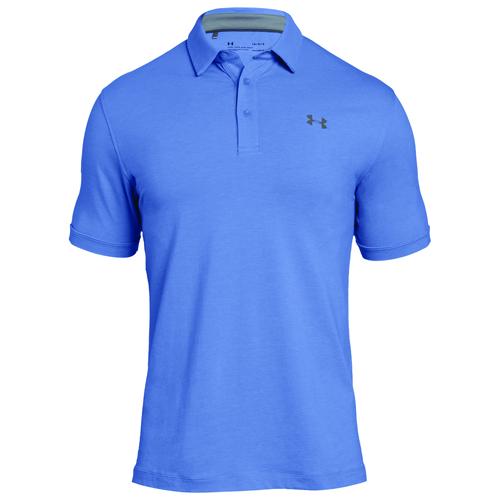 Men's Charged Cotton Scramble Polo, Blue/Silver, swatch