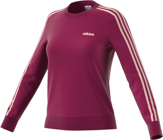 Women's Essentials 3 Stripes Sweatshirt, Hot Pink,Fuscia,Magenta, swatch