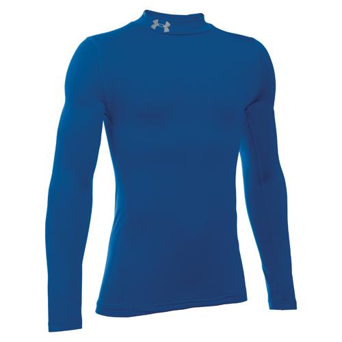 Boys' ColdGear Mock Shirt, Royal Bl,Sapphire,Marine, swatch