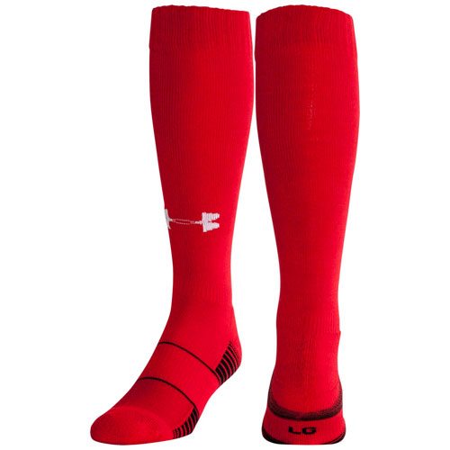 Team Football Over-the-Calf Socks, Red, swatch