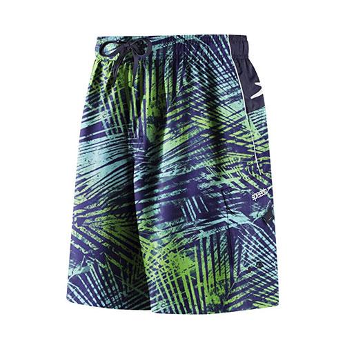 Men's Marina Volley Swimshort, Navy/Green, swatch