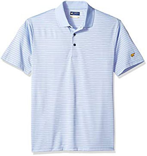 Men's Striped Polo, Blue, swatch