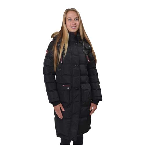 Women's 2-Pocket Puffer Jacket, Black, swatch