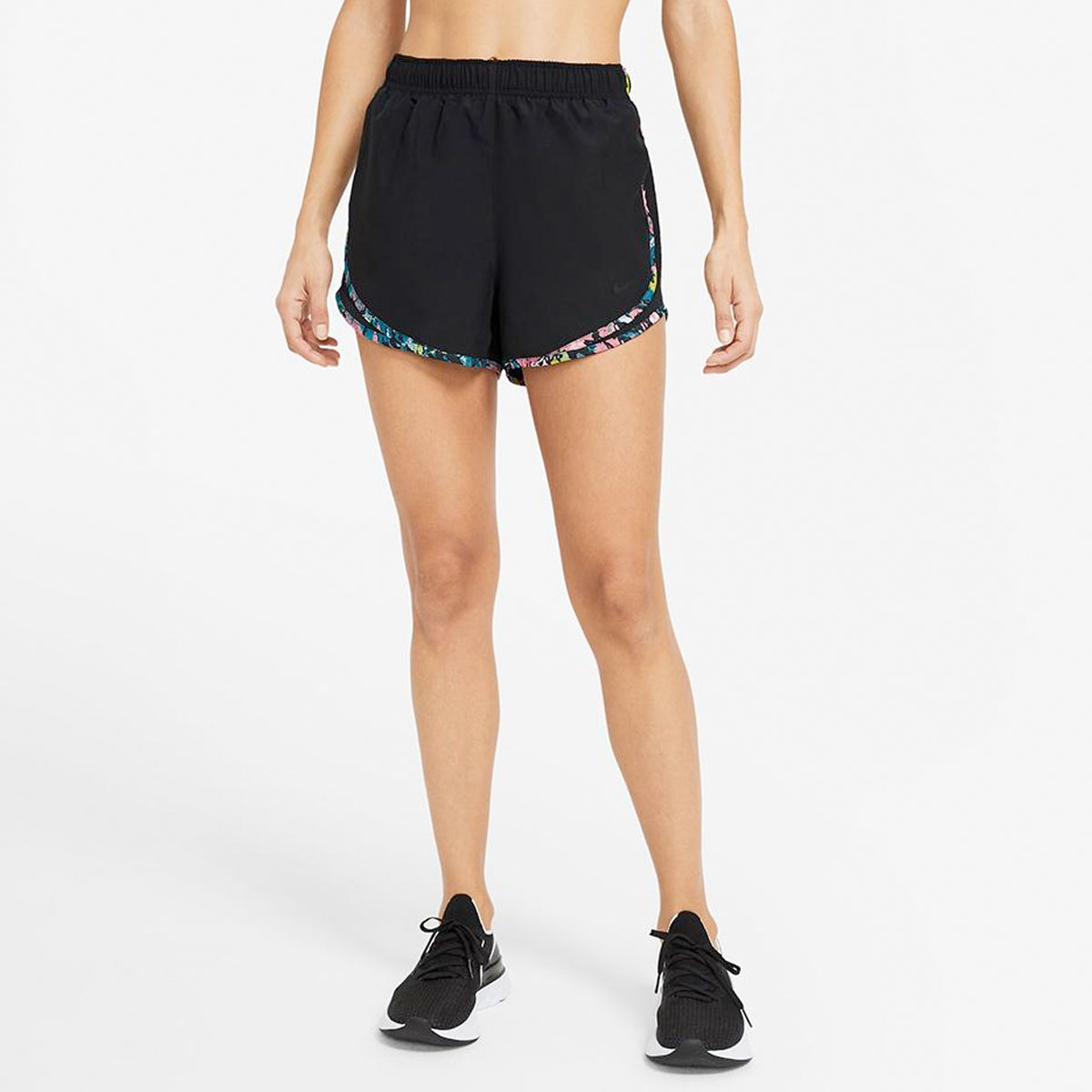 Women's Tempo Shorts, Black/Black, swatch