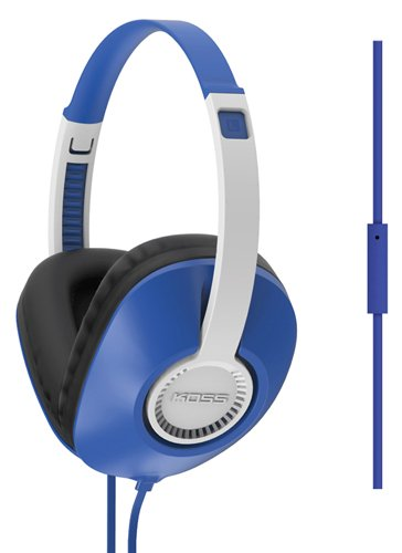 Full Size Over The Ear Headphones With Mic, Blue, swatch