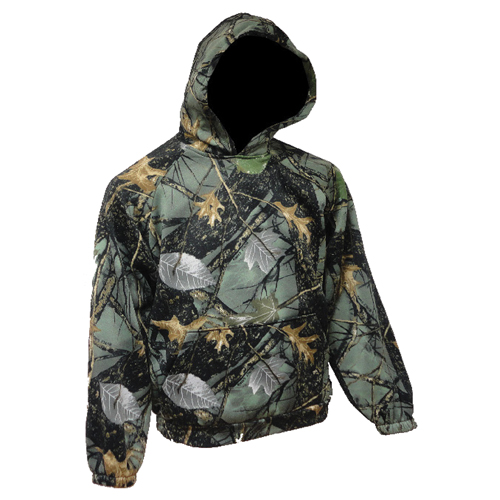 Men's Hooded Camo Sweatshirt, Burly, swatch