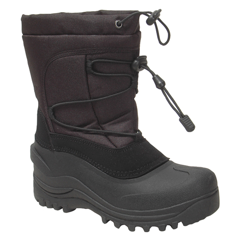 Boys' Cerebus Winter Boot, Black, swatch