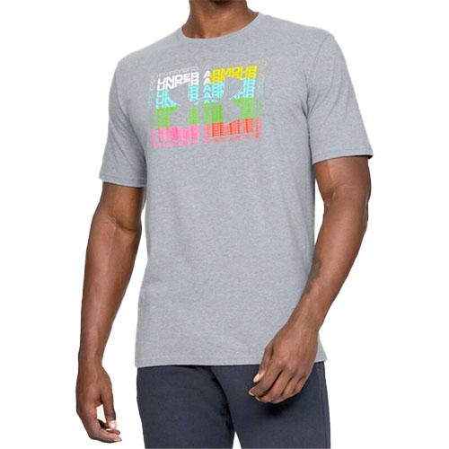 Men's Multi Logo Graphic T-Shirt, Heather Gray, swatch