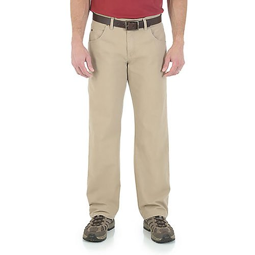Wrangler Relaxed Straight Jeans, Tan,Beige,Fawn,Khaki, swatch