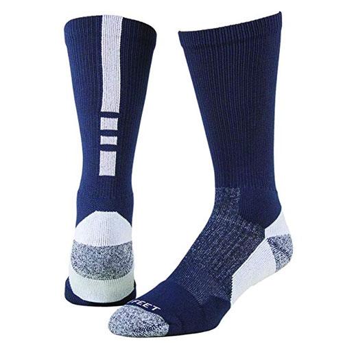 Shooter Socks, Navy/White, swatch