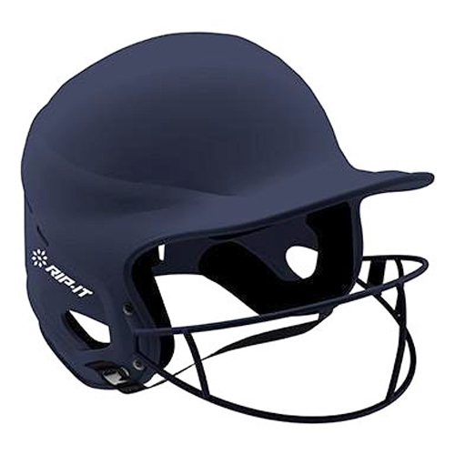 Vision Matte Softball Helmet With Mask, Navy, swatch