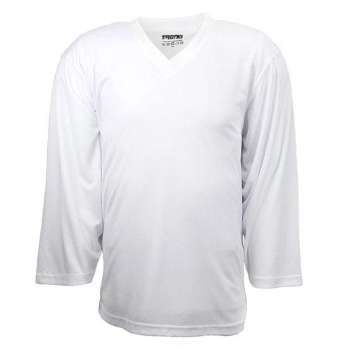 Adult DJ80 Practice Hockey Jersey, White, swatch