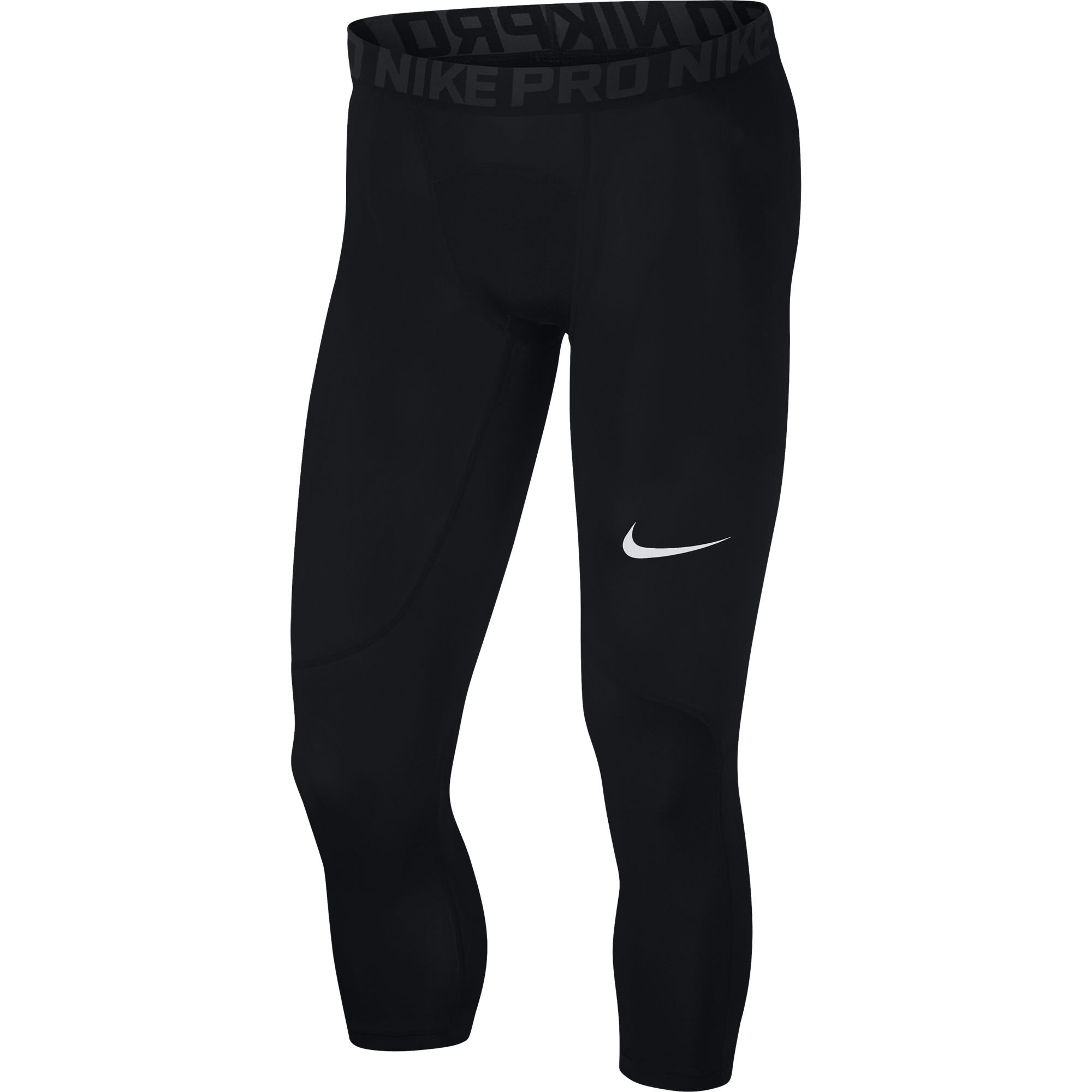 Men's Pro Three-Quarter Tight, Black, swatch