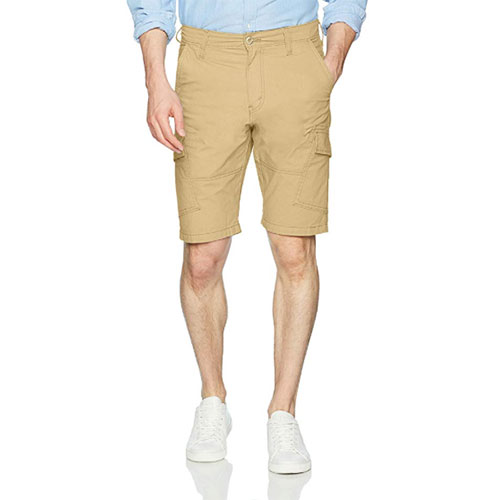 Men's Straight Fit Cargo Shorts, Honey,Camel, swatch