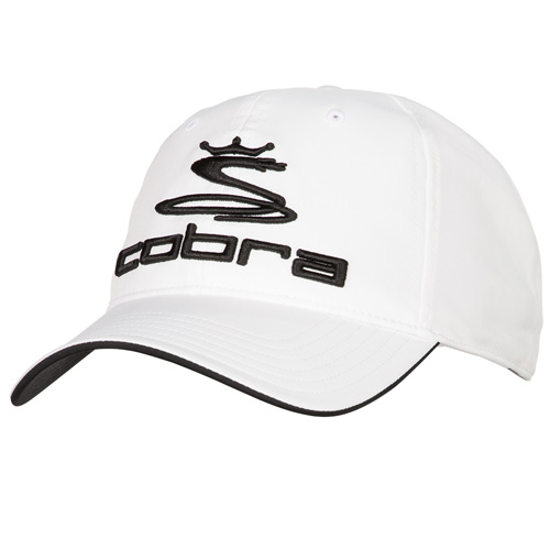 Men's Adjustable Slouch Golf Cap, White/Black, swatch