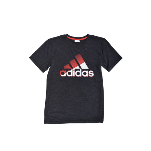 Boys' Sliced Badge of Sport Tee, Black/Red, swatch