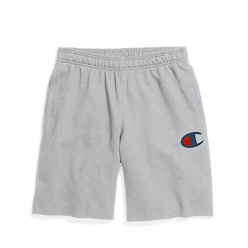 Men's Powerblend Fleece Shorts, Heather Gray, swatch