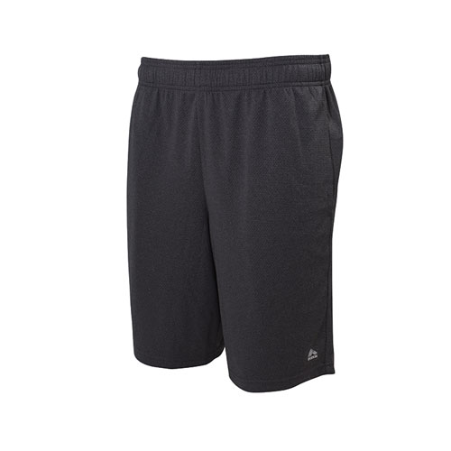 Men's Heather Mesh Shorts, Black, swatch