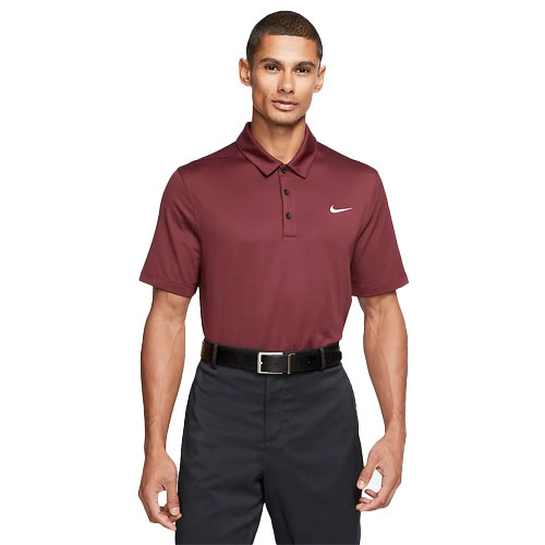 Men's Short Sleeve Football Polo, Dk Red,Wine,Ruby,Burgandy, swatch
