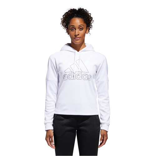 Women's Team Issue Badge of Sport Pullover Hoodie, White, swatch