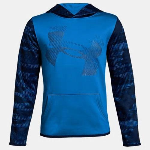 Boys' Armour Fleece Hoodie, Blue, swatch