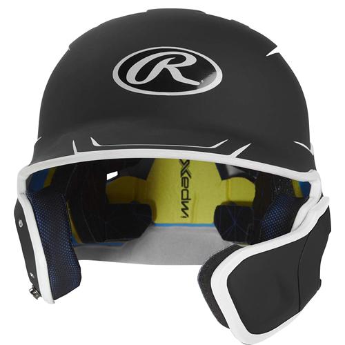 Senior MACH 2-Tone Batting Helmet, Black, swatch