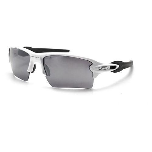 Flak 2.0 XL Fire Iridium Sunglasses, White/Black, swatch