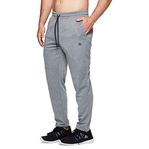Men's CVC Fleece Tapered Jogger Pants, Heather Gray, swatch