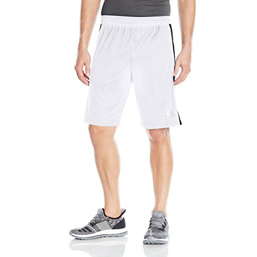Mens Designed 2 Move 3-Stripes Shorts, White, swatch
