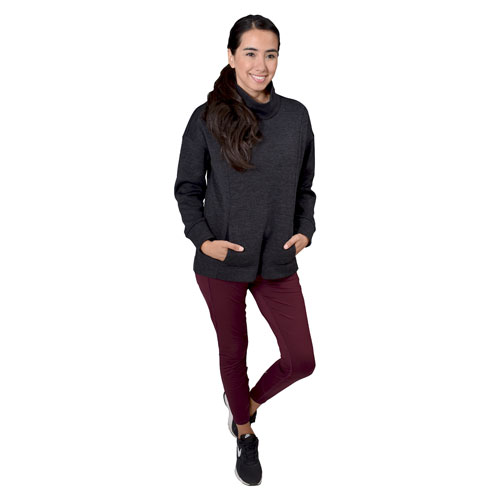 Women's Brushed Legging With Zippered Trim, Dk Red,Wine,Ruby,Burgandy, swatch