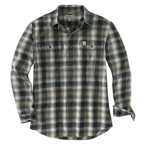 Men's Big & Tall Hubbard Flannel Long Sleeve Shirt, Black, swatch