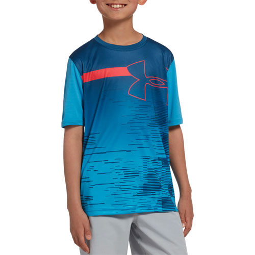 Boys' Sun Armour T-Shirt, Blue, swatch