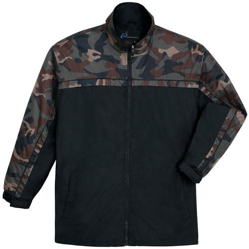 Men's Camo Yakima Jacket, Black, swatch