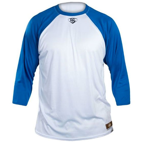 Loose-Fit 3/4 Shirt, White/Royal, swatch