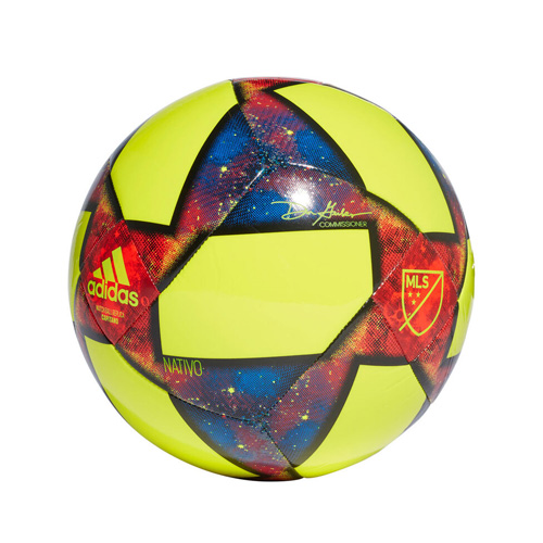 MLS Glider Soccer Ball, Br Yellow/Blue, swatch