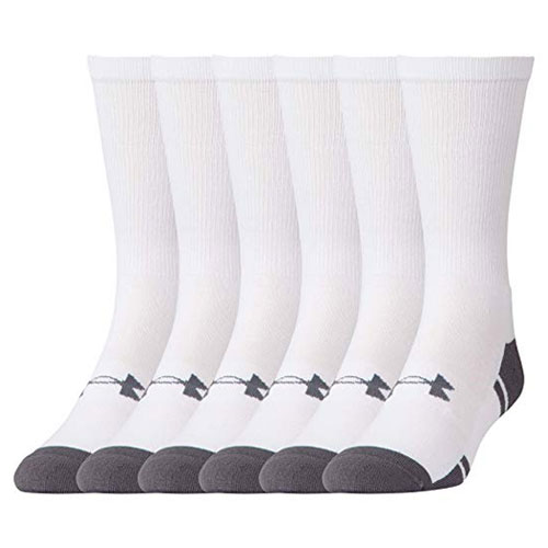 Resistor 3.0 Crew Sock 6-Pack, White, swatch