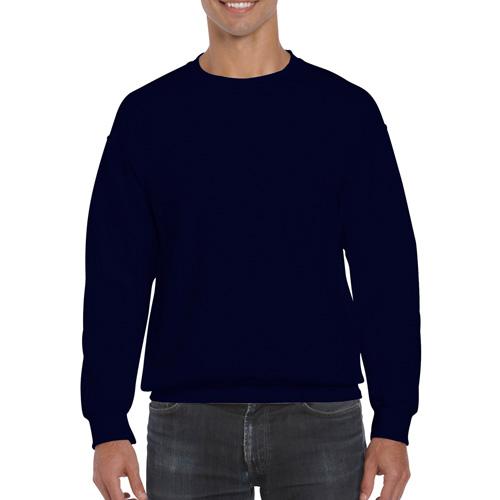 Men's Extended Size DryBlend Crewneck Sweatshirt, Navy, swatch