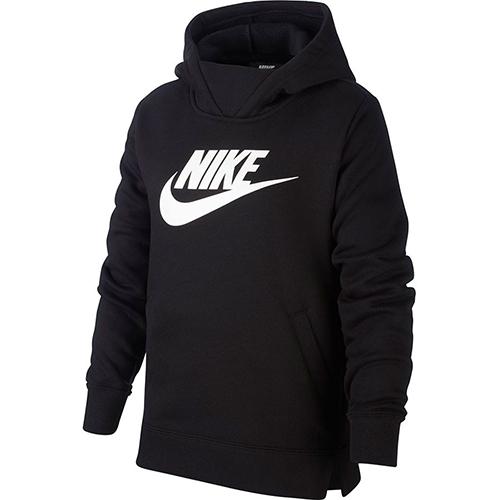 Girl's Sportswear Pullover Hoodie, Black, swatch
