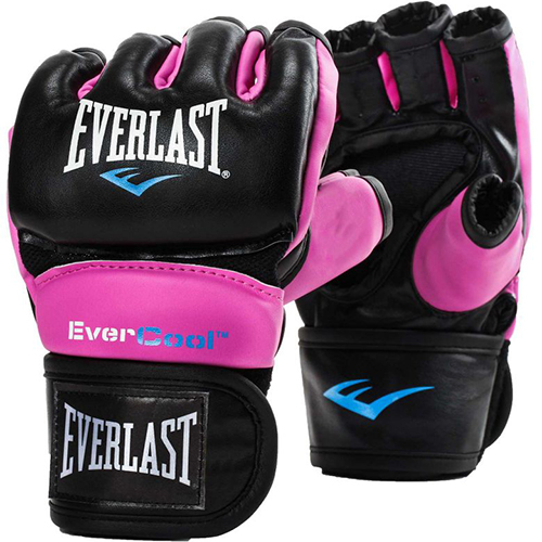 Women's Everstrike Training Gloves, Black/Pink, swatch