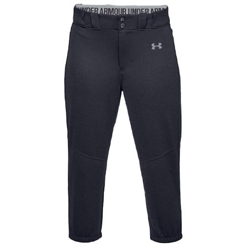 Women's Cropped Softball Pants, Black, swatch