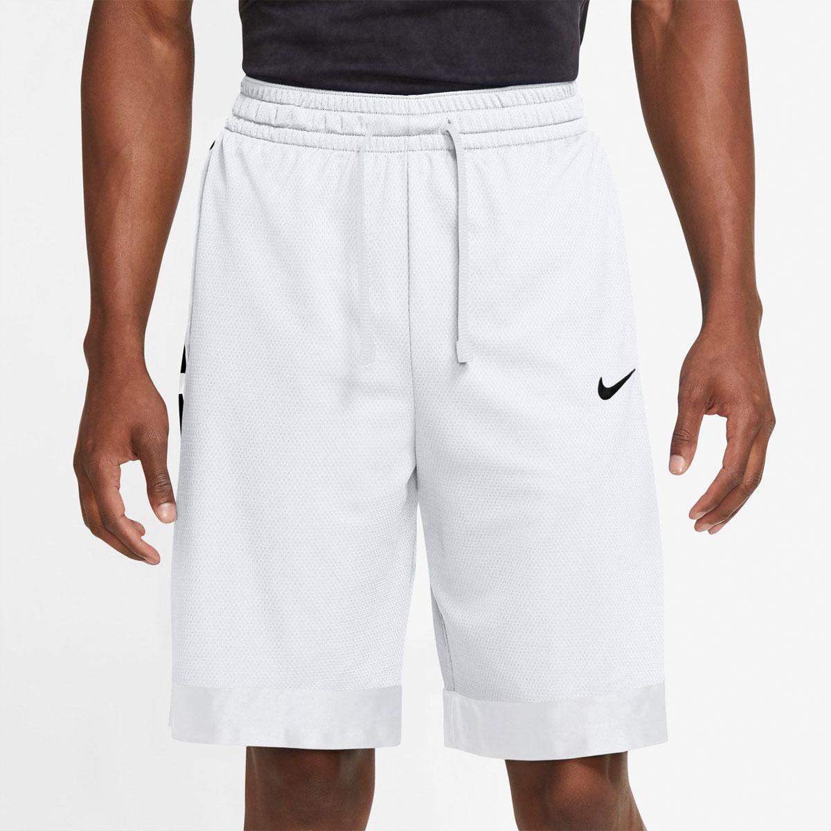 Men's Dry Elite Stripe Shorts, White, swatch